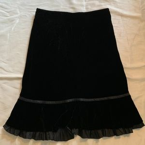 Loft Black Velvet Skirt - NWT